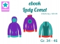 Mobile Preview: Ebook Hoodie Pullover Lady Comet Gr.34 - 46