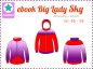 Preview: Ebook Sweatjacke Big Lady Sky Gr.46-58