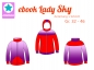 Mobile Preview: Ebook Sweatjacke Lady Sky Gr.32-46