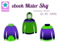 Preview: Ebook Sweatjacke Mister Sky Gr. XS-XXXL