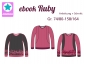 Preview: Ebook Sweatshirt Ruby Gr.74/80-158/164