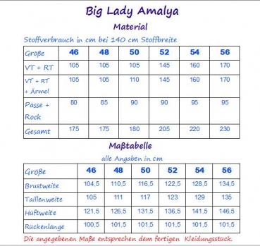 Ebook Sommerkleid Big Lady Amalya Gr.46-56