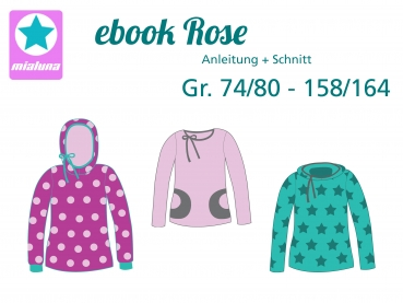 Ebook Shirt Rose Gr. 74/80-158/164