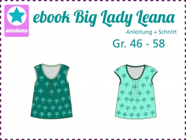 Ebook Sommershirt Big Lady Leana Gr.46-58