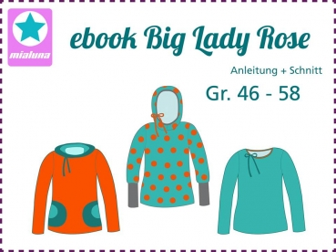 Ebook Damenshirt Big Lady Rose Gr.46-58