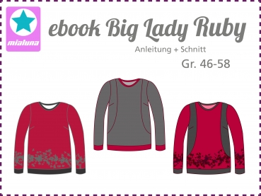 Ebook Damen Sweatshirt Big Lady Ruby Gr.46-58