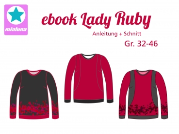 Ebook Damen Sweatshirt Lady Ruby Gr.32-46
