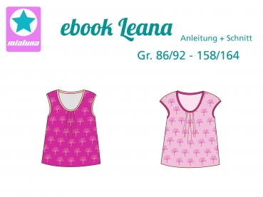 Ebook Sommershirt Shirt Top Leana Gr. 86/92 - 158/164