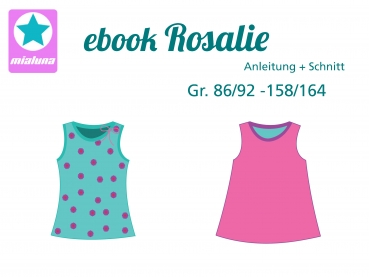 Ebook Sommer Top Rosalie Gr. 86/92-158/164