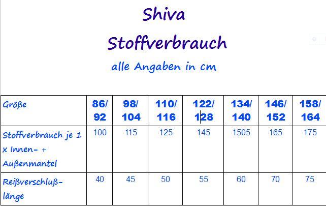 cheaper d02b5 f84c3 mialuna - Ebook Übergangsmantel Mantel Shiva Gr. 86/92-158/164