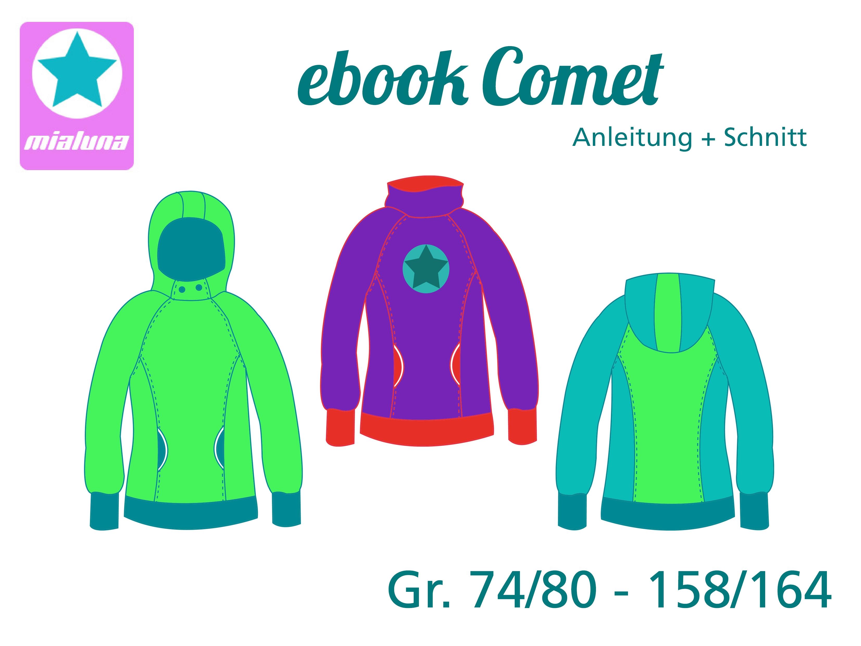 mialuna - Ebook Hoodie Comet Gr.74/80-158/164