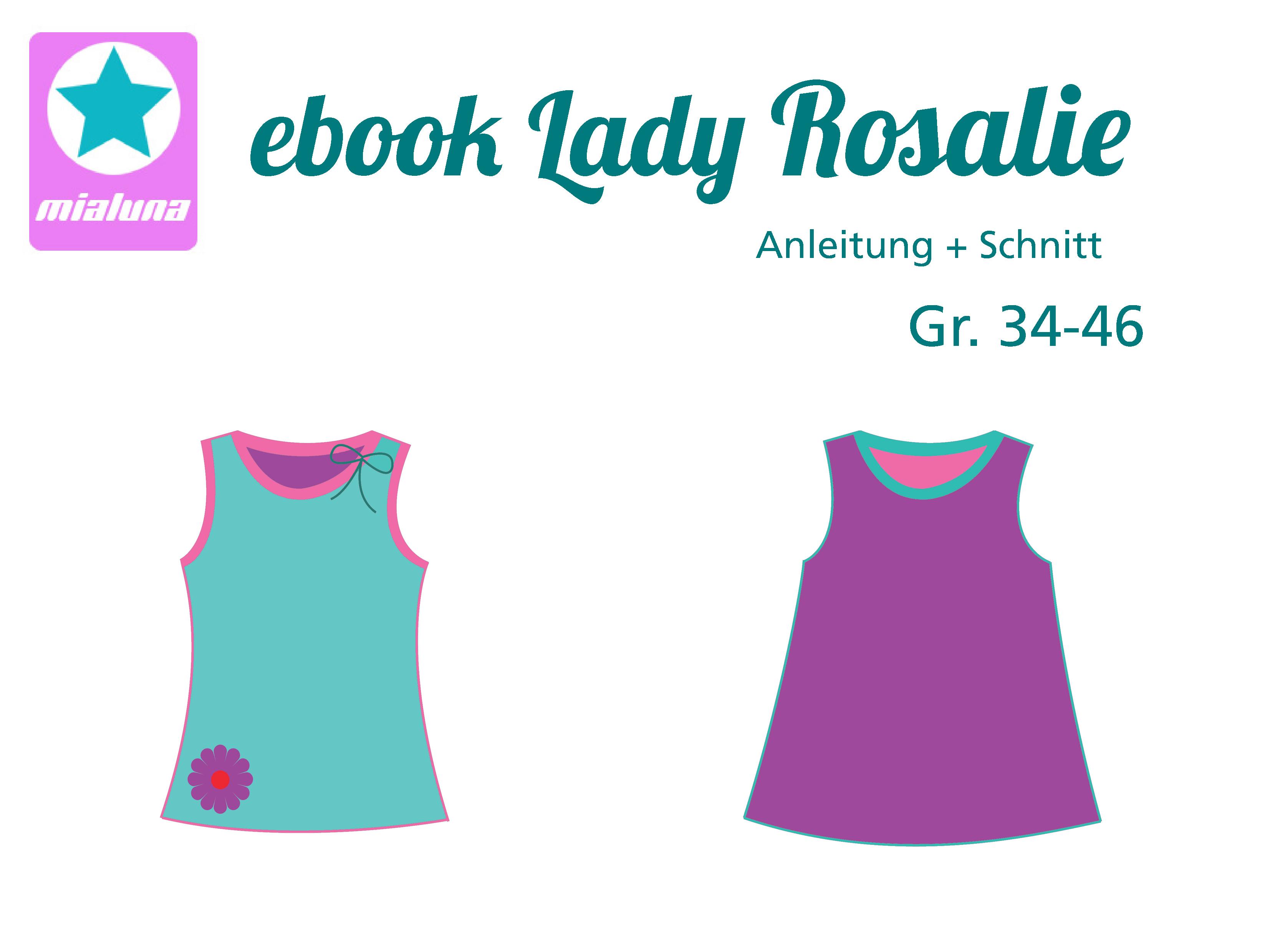 mialuna - Ebook Damen Sommer Top Lady Rosalie Gr. 34-46