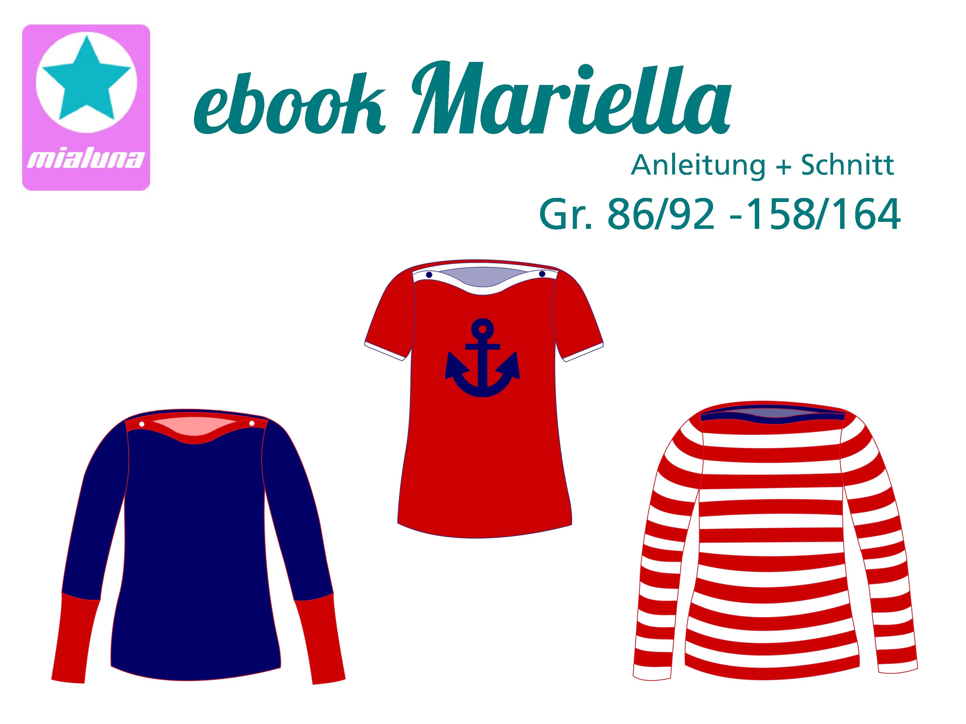 mialuna - Ebook Shirt Mariella Gr. 86/92- 158/164