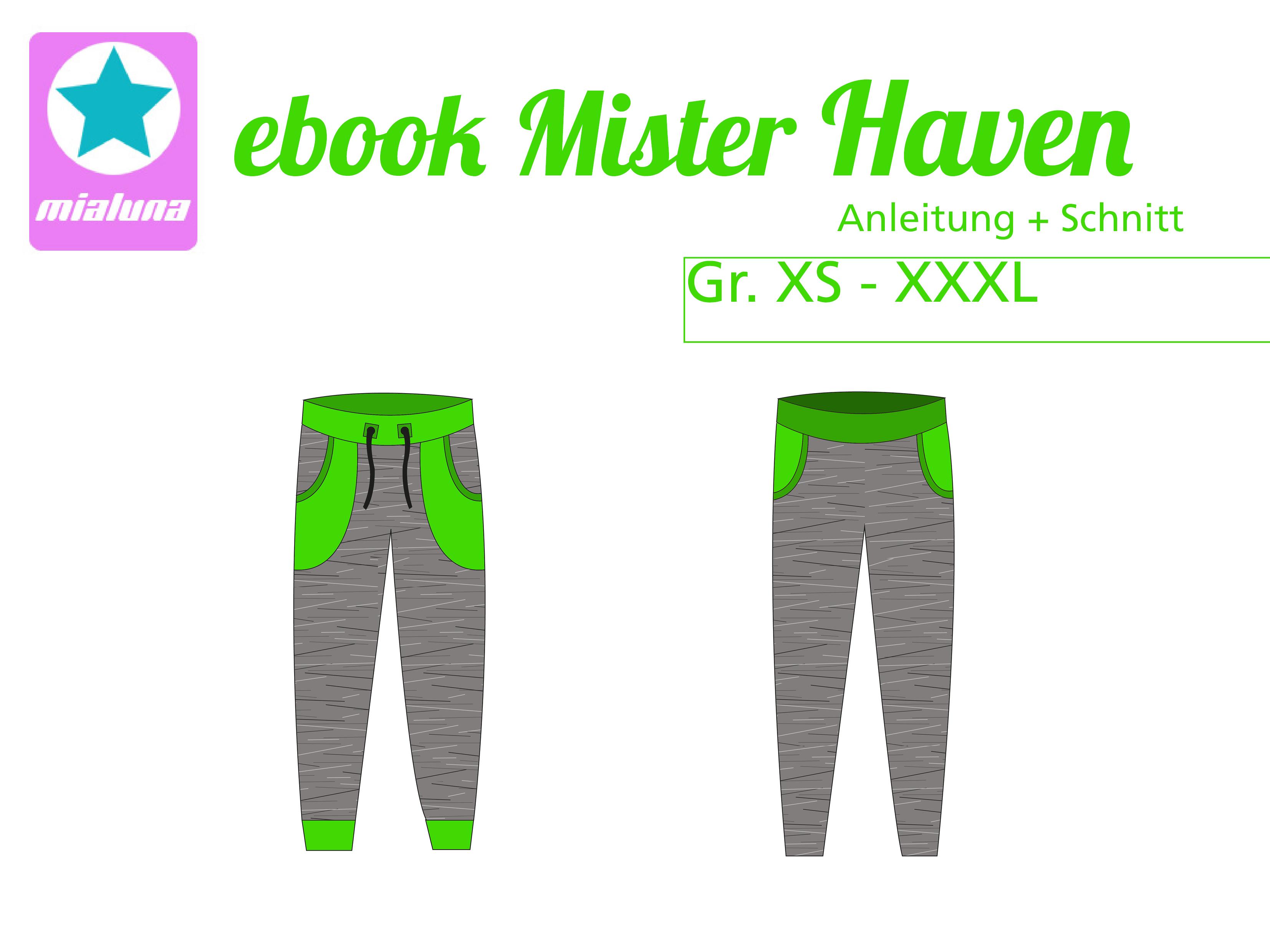 mialuna - Ebook Sweathose Mister Haven Gr. XS-XXXL