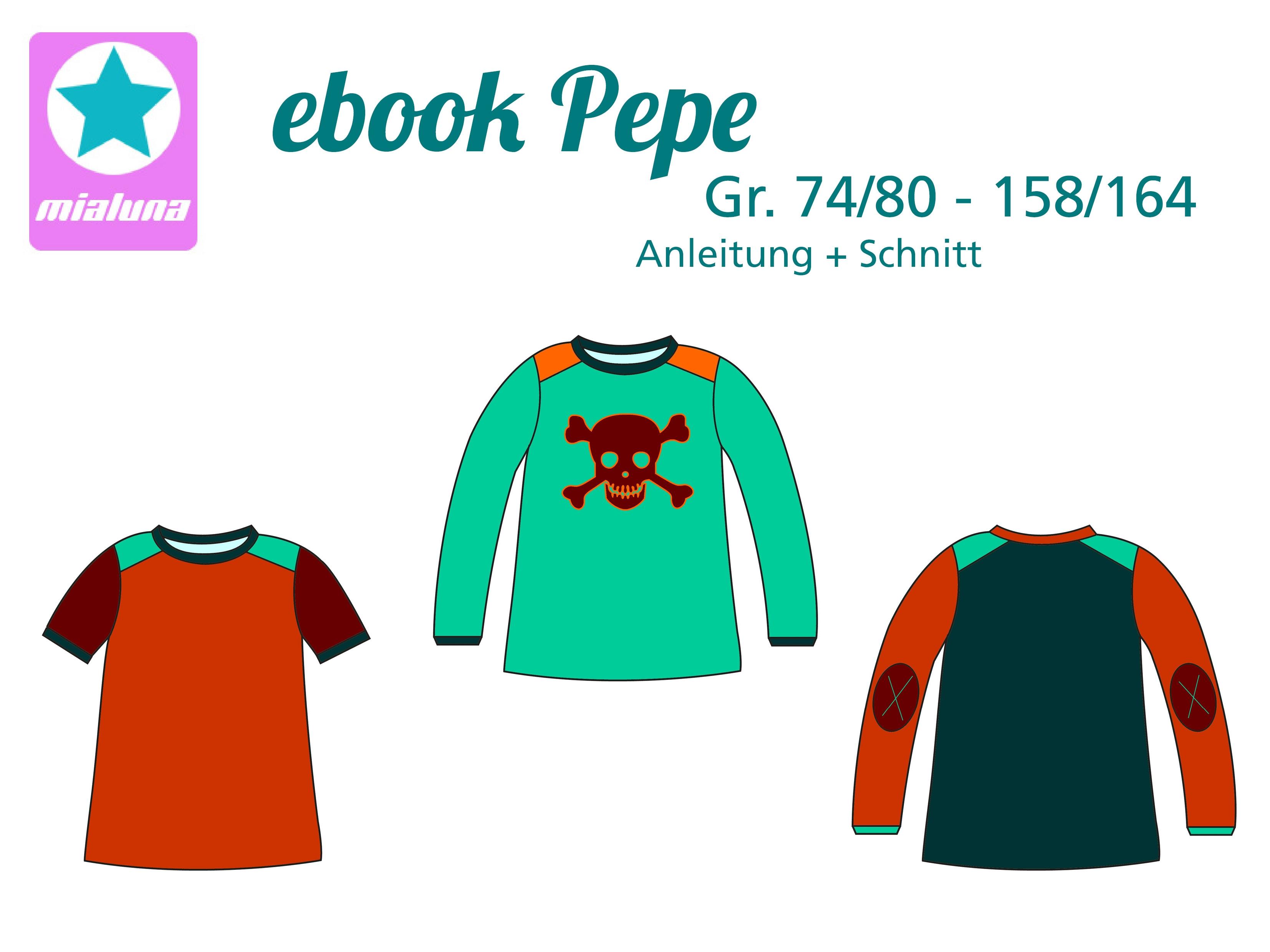 c67baeeabb mialuna - Ebook Shirt Pepe Gr.74/80-158/164