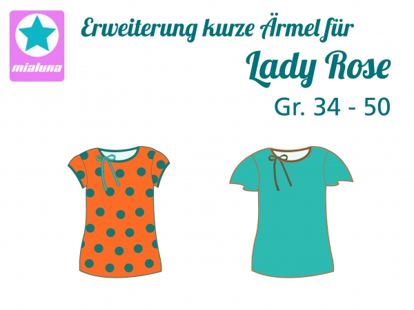 Add on kurze Ärmel zu Lady Rose Gr. 34-50