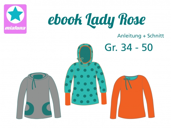 Ebook Damenshirt Lady Rose Gr.34-50
