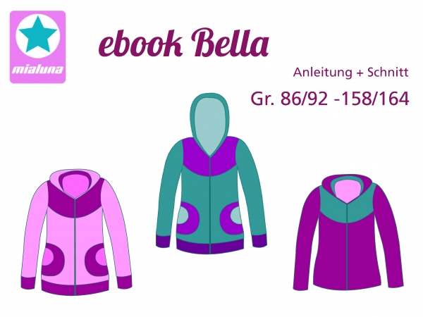 Ebook Jacke Sweatjacke Bella Gr.74/80-158/164