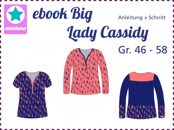 Ebook Damen Bluse Big Lady Cassidy Gr. 46-58