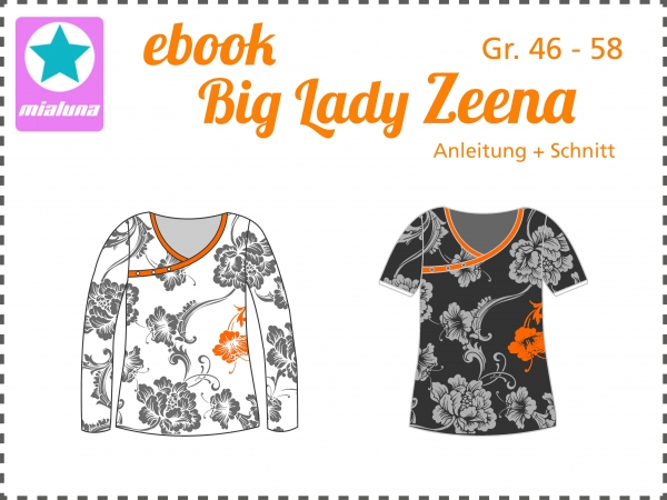 Ebook Damen Shirt Big Lady Zeena Gr. 46-58