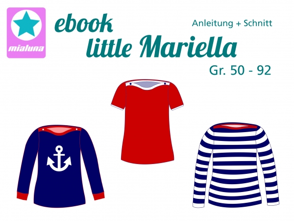 Ebook Shirt little Mariella Gr. 50-92