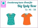Add on kurze Ärmel zu Big Lady Rose Gr. 46-58