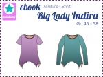 Ebook Damenshirt Zipfelshirt Big Lady Indira Gr.46-58